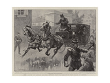 The Return of Captain Dreyfus, Driving from La Rablais to the Prison at Rennes Giclee Print by William T. Maud