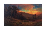 An Autumnal Sunset on the Russian River, 1878 Giclee Print by William Keith