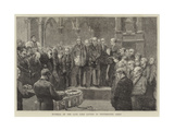 Funeral of the Late Lord Lytton in Westminster Abbey Giclee Print by William III Bromley