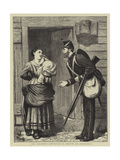 The Soldier's Departure, a Sketch at Aldershot Giclee Print by William III Bromley