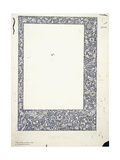 Original Drawing for a Full-Page Border Giclee Print by William Morris