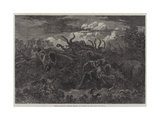 Scenes of South African Travel, an Attack in the Night Giclee Print by William James Linton