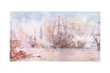 Battle of Trafalgar 1805, 1915 Giclee Print by William Lionel Wyllie