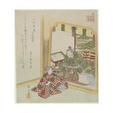 Komatsu Shigemori from the Tales of Heike, C. 1820 Giclee Print by Yashima Gakutei