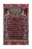 A Rare German Jewelled Parochet (Torah Ark Curtain) Giclee Print