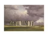 Stonehenge: Stormy Day, 1846 Gicléedruk van William Turner