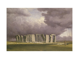 Stonehenge: Stormy Day, 1846 Giclee Print by William Turner