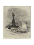 From the Old World to the New, Entering New York Harbour Giclee Print by William Lionel Wyllie
