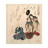 Godaime Iwayahanshiro No Fujimusume to Sandaime Bandomitsugoro No Zato Giclee Print by Yanagawa Shigenobu