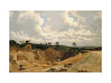 Gravel Pit on Shotover Hill, Near Oxford, C. 1818 Giclee Print by William Turner