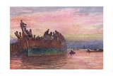 The End of an Old Warship, 1915 Stampa giclée di William Lionel Wyllie