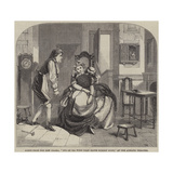Scene from the New Drama, It's an Ill Wind That Blows Nobody Good, at the Adelphi Theatre Giclee-trykk av William Ralston