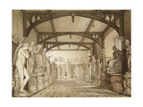 The Sculpture Gallery in the Examination Schools Giclee Print by William Westall