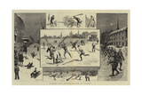 Summer and Winter Sports in Canada Giclee-trykk av William Ralston