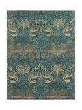 William Morris Peacock and Dragon Textile Design  C1880