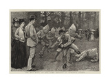 The Bell-Race, an Old Game Revived at Athletic Sports Giclee Print by William Lockhart Bogle