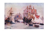 The Spanish Armada 1588, 1915 Giclee Print by William Lionel Wyllie