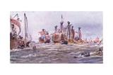 Battle of Sluys 1340 Ad, 1915 Giclee Print by William Lionel Wyllie