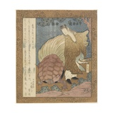 Indian Boy Releasing a Turtle, C. 1828 Giclee Print by Yashima Gakutei