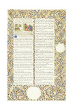 Calligraphic and Illuminated Manuscript, C.1871-1873 (Inks and Paint on Paper) Giclee Print by William Morris