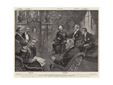 The Italian Fleet at Toulon, the Meeting Between President Loubet and the Duke of Genoa Giclee Print by William T. Maud