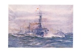 Battleships of the White Era at Sea, 1915 Giclee Print by William Lionel Wyllie