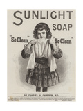 Advertisement, Sunlight Soap Giclee Print by William Powell Frith