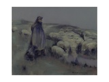 A Shepherdess, C.1890-95 Giclee Print by William Kennedy