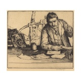 Self-Portrait, 1897 (Drypoint) Giclee Print by William Strang