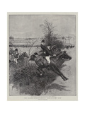 The Guards' Inter-Regimental Point-To-Point Race Giclee Print by William Small