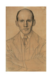 Portrait of James Craig Annan (1864-1946), Photographer, 1902 (W/C and Chalk) Giclee Print by William Strang