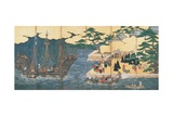 Arrival of the Southern Barbarians (Portuguese Traders at Nagasaki) Giclee Print