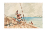 The Conch Divers, 1885 Giclee Print by Winslow Homer