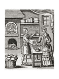 A 16th Century Baker's Shop. from Illustrierte Sittengeschichte Vom Mittelalter Bis Zur Gegenwart b Giclee Print