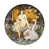 A Minton Earthenware Large Tazza, Depicting Leda and the Swan, (Earthenware) Giclee Print by William Stephen Coleman