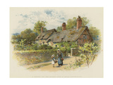 In Shakspere's Land, Anne Hathaway's Cottage at Shottery, Stratford-On-Avon Giclee Print by William Stephen Coleman