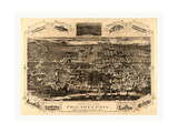 Bird's Eye View of Philadelphia Between the Schuykill River Giclee Print