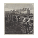 Bursting of the Fleet Ditch and Destruction of Part of the Metropolitan Railway Giclee Print