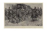 Hero Worship by Friendly Natives, the March of the Highland Light Infantry Through Basutoland Giclee Print by William T. Maud