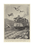 Sport and War, Shooting Partridges from an Armoured Train Giclee Print by William T. Maud