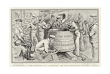 Commissioning a New Grog-Tub on a Battleship for the Coronation, Finishing Touches Giclee Print by William T. Maud
