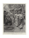 The Revival of Trade with Jamaica, Shipping Bananas Giclee Print by William T. Maud
