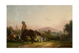 Gypsy Encampment Giclee Print by William Snr. Shayer