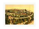 Bird's Eye View of George Washington's Mount Vernon Estate Giclee Print