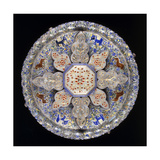 An Indian Silver and Inset Jade Sweetmeat Dish Giclee Print