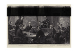 A Meeting of the War Office Council at the War Office Giclee Print by William T. Maud