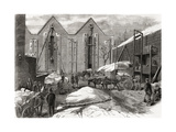 Carting the Ice at Mr Charles' Ice Stores Giclee Print