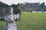 Bust of French Writer Guy De Maupassant (1850-1893) in Garden of Miromesnil Castle Photographic Print