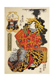 Courtesan Hanaogi from Ogiya House at Courtesans' Spring Parade Giclee Print