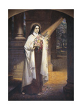 Close-Up of a Mural of St. Therese of Lisieux Giclée-tryk